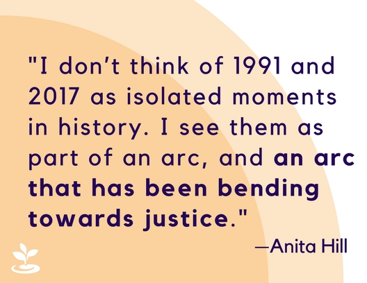 An Anita Hill quote that reads